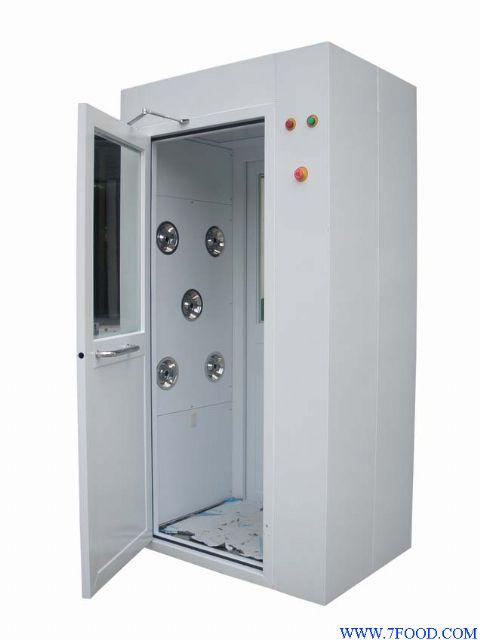 风淋室感应控制系统:红外线感应吹淋,plc控制,led显示吹淋时间,吹