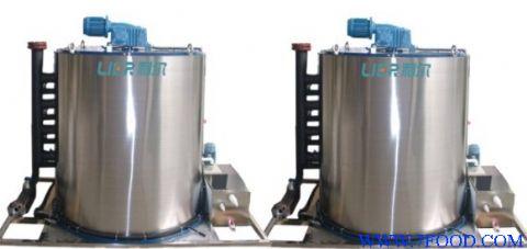 深圳市利尔机械设备有限公司专业生产的制冰机蒸发器采用固定静止的