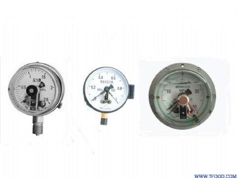 耐震电触点压力表接线图