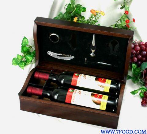 木制首饰盒 曹县木质包装品 木质包装酒箱 工艺礼品包装盒 pvc红酒盒
