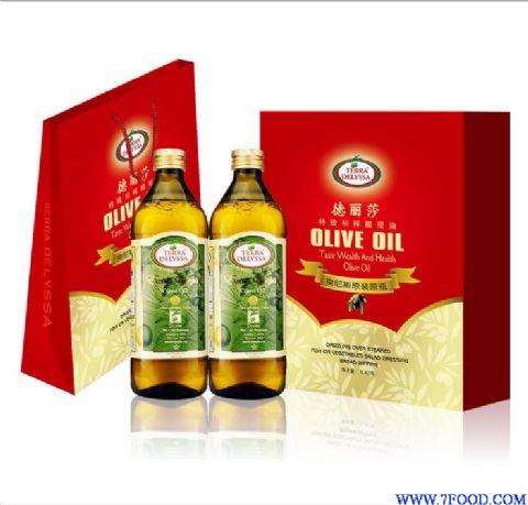 德丽莎cv_进口中秋礼品批发德丽莎特级初榨橄榄油礼盒红包装