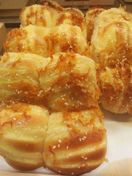 芝士肉松面包的制作方法