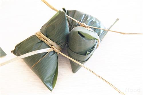牛角粽的包法图解