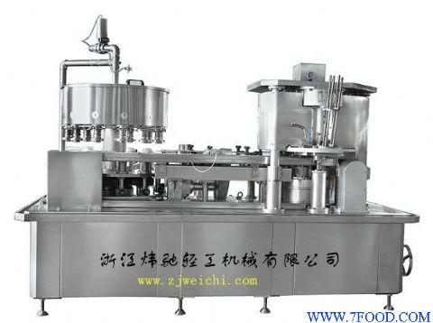 运用廻转式结构,对机器中的24个灌装阀分别用气缸控制出