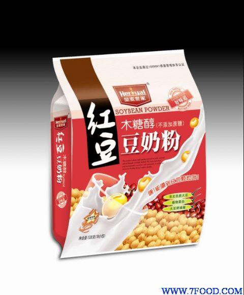 木糖醇红豆豆奶粉采用东北优质大豆,奶粉为主要原料,添加了红豆原粒