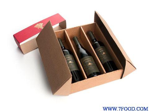 葡萄酒三支装礼盒包装葡萄酒外盒设计制作