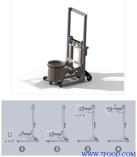 圆桶提升车_食品机械设备产品