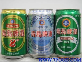 供应 批发青岛啤酒10度易拉罐